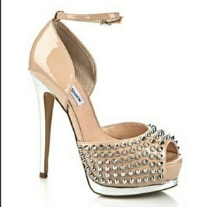 Steve Madden Obstacle Studded peep toe heels